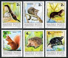 Hungary 3035-3040, MNH. Wildlife Conservation, 1986