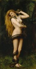 """John Collier Lilith Handmade Oil Painting repro 24""""x36"""""""