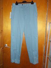 "M&S Stormwear 100% Cotton Flat Front Regular Fit Chinos W32"" L33"" Pale Blue BNWT"