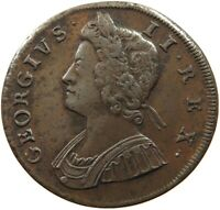 GREAT BRITAIN HALF PENNY 1730 GEORGE II   #t58 515