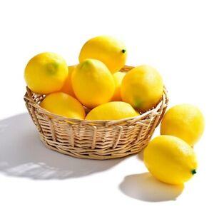 Fake artificial lemons lemon decor kitchen faux fake fruit lemons decoration