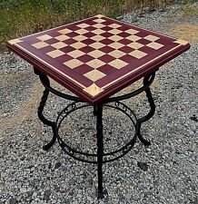 Chessboard Table, Handmade in Brandon's shop. Purple Heart & Sycamore. Brand NEW