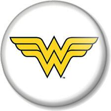 Wonder Woman Logo 25mm Pin Button Badge Lynda Carter Comic Retro TV Superhero