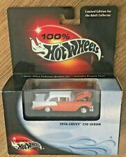 100% Hot Wheels Black Box Limited Edition 1956 Chevy 210 Orange/White Sedan