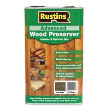 Rustins Quick Drying Advanced Wood Preserver Protector Dark Brown 5 Litre