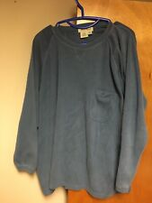 Vintage Eddie Bauer Women's Xxl 2Xl Pocket Pullover Sweater Blue 100% Cotton Euc