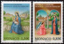 2017 Monaco congiunta con Vaticano MNH**