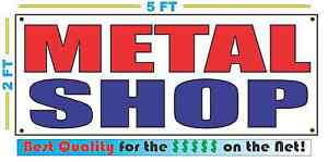 METAL SHOP Full Color Banner Sign NEW Best Quality for the $$$ USA