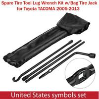Spare Tire Tool Lug Wrench Kit w/ Bag Tire Jack Fit for Toyota TACOMA 2005-2013