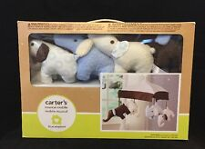 Carter`s Blue Elephant Musical Mobile, Blue/Choc , New, Free Shipping