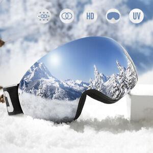 Adult Snow Ski Goggles Men Anti-fog UV Lens Snowboard Snowmobile Motorcycle