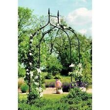 Garden Gothic Arch Decorative Outdoor Yard Archway for Climbing Plants Black New
