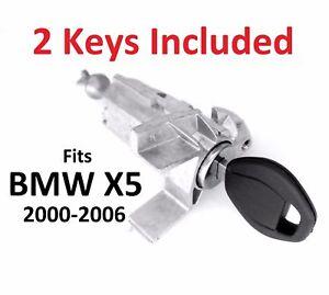 For BMW X5 E53 2000-2006 LEFT DRIVER DOOR LOCK CYLINDER BARREL ASSEMBLY w 2 KEYS
