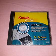 Kodak CD-RW Blank CD Rewritable 650Mb 74Min 1x-4x Brand New Sealed