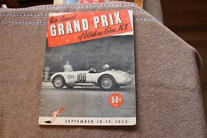 1953 (Sept.18-19) Watkins Glen Grand Prix auto racing program
