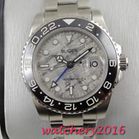 40mm Bliger Grey Dial Luminous Sapphire Glass gmt Automatic Movement men's Watch