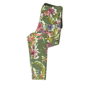 Ideology Leggings NEW Activewear Floral Printed Women's Green Pockets Size Small