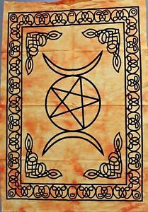 Tapestry Yellow Star Triple Moon Wall Hanging Dorm Decor Bohemian Poster Ethnic