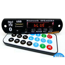 DC 12v Bluetooth Receiver mp3 Decoder Board FM Radio Usb TF AUX + Remote wire