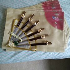 New listing Chinese style Set of 6 Table Placemats and 6 Pair Chopsticks