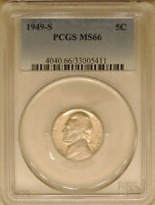 1949-S Jefferson PCGS MS-66 GEM mint state nickel