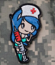 Mil-Spec Monkey Nurse Girl Morale Patch Blue Hook Back
