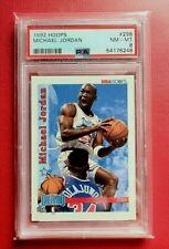 1992-93 NBA Hoops Michael Jordan #298 PSA 8 Nm-MINT! Bulls Dunking on Olajuwon!