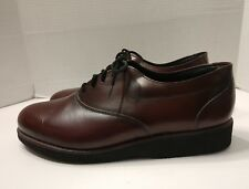 Goodyear Vintage Leather Oxblood Oxfords Walking Shoes Men's Sz 10.5 Made In USA