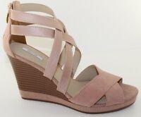 GEOX D Sibilla Powder Pink Suede Platform Wedge Heels Sandal Womens Size 9.5 NEW
