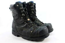 "Dakota 8"" 557 WP Vibram STCP Men's Black Work Boots Wide UK 12/ EU 47/ 2592"