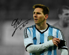 Leo Messi Argentina Soccer Captain Signed 8x10  (RP)