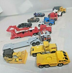 Lot Matchbox 1980s Tractor Trailer Semi Trucks Peterbilt Kenworth Scania Lorry