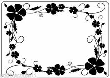 "Crafts Too Embossing Folder ""Pansy Frame"" Ctfd4018 For Cards & Scrapbook Pages"