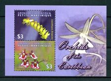 Grenadines of Grenada 2009 MNH Orchids of Caribbean 2v S/S Flowers Flora Stamps