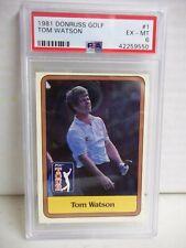 1981 Donruss Tom Watson Rookie PSA EX-MT 6 Golf Card #1 PGA Tour