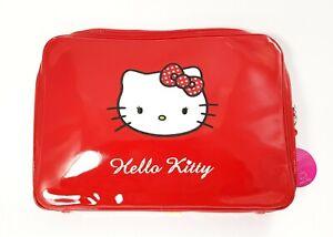Enveloppe Porte Ordinateur PC Portable / Tablette IN Peinture Rouge Hello Blanc