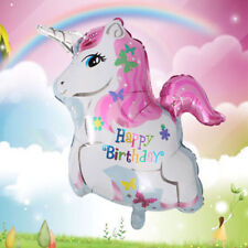 NEW Helium or Air Happy Birthday Unicorn Balloon with butterflies FREE AUS POST!