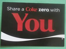 Share a Coke Zero With You - New Coca-Cola Postcard from Belgium