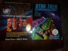 2 Star Trek Books Chonology Captains' Logs 30 Year Trek History