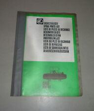 Teilekatalog / Ersatzteilliste Claas Frontmähwerk WM31F | 12/1982