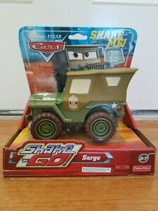 """Disney CARS The world of Cars 6"""" Sarge shake N go New Factory Sealed 2006"""