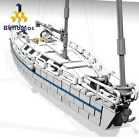 MOC-5186 Sailboat Fishing Boat Bricks Building Blocks Set Kids Ship Model toys