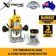 DeWalt 900W Compact Premium Plunge Fixed Base Router Combination Tool D26204K-XE