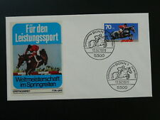horse jumping equestrianism FDC 1978 Germany 83679