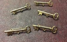 Vintage Warm Gold Plate Whimsical Key w Hoop Add A Drop Dangle Pin Finding Lot