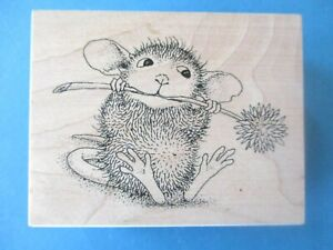 House Mouse MUDPIE MUNCH Rubber Stamp FLOWER Stampa Rosa 2002