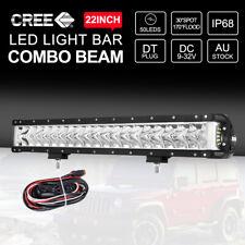 22 inch CREE LED Light Bar 12V 24V Off Road SPOT FLOOD Side Shooter Lights