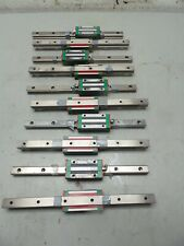 10 HIWIN HG20 CNC LINEAR RAIL & 10 BALL BEARING/BLOCK/SLIDE 340MM L X 20MM
