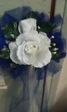 Wedding Bows Royal Blue And White royal blue tulle Set Of 10 Rush Orders Avail