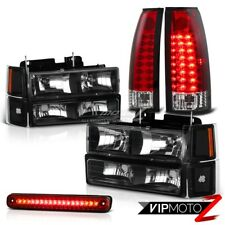 94-98 Chevy CK Silverado 1500 2500 Red LED Taillights+3RD Brake Cargo+Headlamps